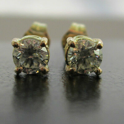 Brand New 1/5ct Diamond 9ct Yellow Gold Stud Earrings £100 Freepost