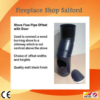 Stove flue pipe offset with soot door