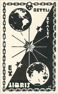Bettij Staley. Earth. Chained.  Bookplate QR686