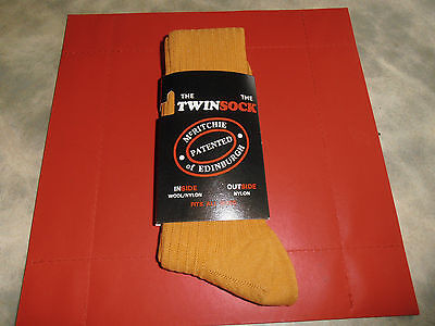 McRitche of Edinburgh The Twin Sock Patent Yellow