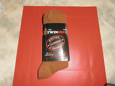 McRitche of Edinburgh The Twin Sock Patent Dark Brown