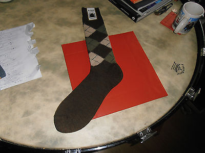McRitche of Edinburgh  Brown Argyle Sock