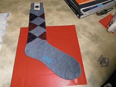 McRitche of Edinburgh  Blue  Diamond Pattern Sock