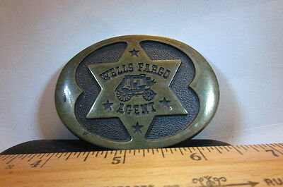 Vintage Brass Belt Buckle-1977 Stage Couch Star Wells Fargo Agent #GB 299