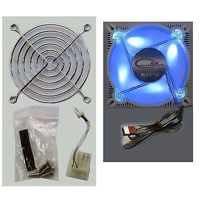 New CMT-ALF-9S 90MM Desktop PC CASING Aluminium Frame Fan Four  BLUE Bright LEDs