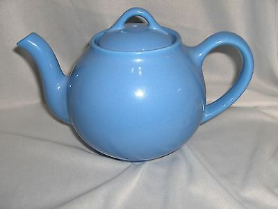 Vintage 1930's Periwinkle Blue Lipton Hall French Teapot & Lid NICE