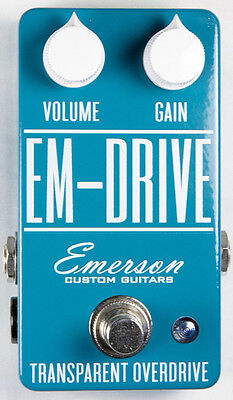 Emerson Custom EM-Drive Transparent Overdrive Effects Pedal, Brand New,Free Ship
