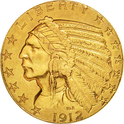[#77767] United States, Indian Head, $5, Half Eagle, 1912,Philadelphia, AU...