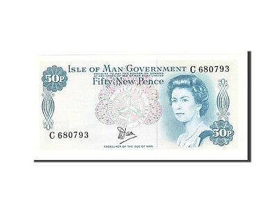 [#113568] Isle of Man, 50 New Pence, Undated, KM:33a, UNC(65-70)