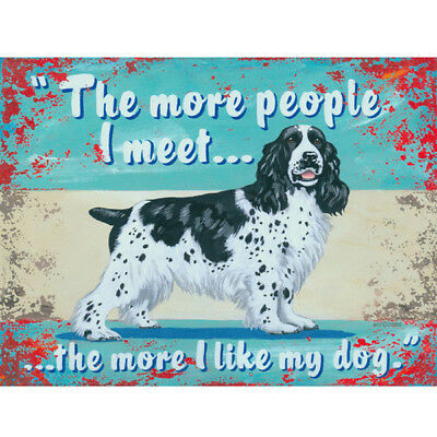 I Like My Dog Cocker Spaniel Dog Sign Pet Decor Vintage-Style 16 x 12