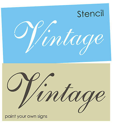 French Script STENCIL Vintage Fancy Font Shabby Garden Chic Signs You Paint