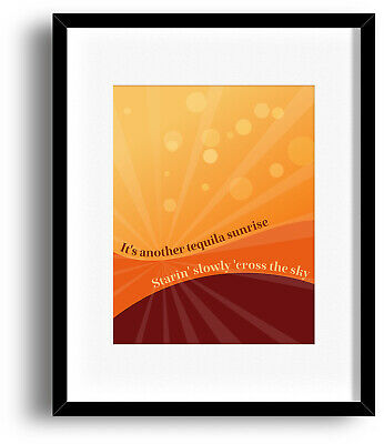 Eagles - TEQUILA SUNRISE - Song Lyric Art Music Quote - ABSTRACT PRINT POSTER