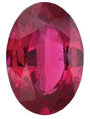 Natural Fine Pink Red Ruby - Oval - Thailand - Select Grade