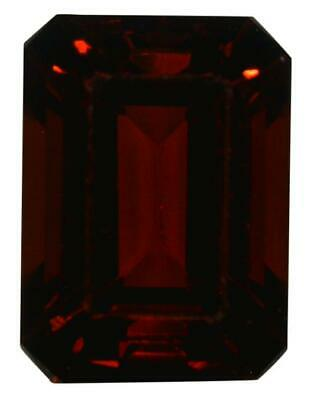 Natural Fine Deep Red Garnet - Emerald Cut - Tanzania - AAA Grade