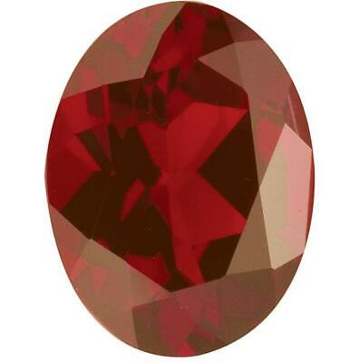 Natural Fine Rich Amber Red Garnet - Oval - Mozambique - AAA Grade