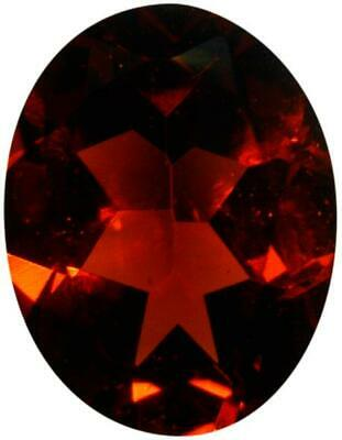 Natural Fine Deep Amber Red Garnet - Oval - Madagascar - AAA Grade