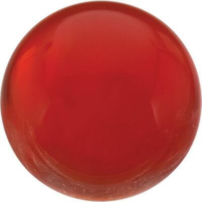 Natural Fine Orange Red Carnelian - Round Cabochon - Uruguay - Top Grade