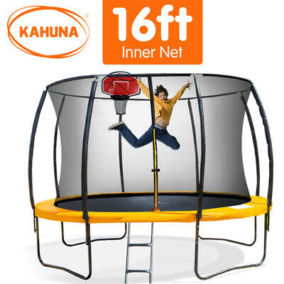 16ft Round Spring Trampoline Free Safety Net Pad Cover Mat Ladder Shoe Storage