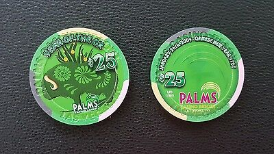 palms las vegas chinese new year of the ox bull $25 casino chip unc