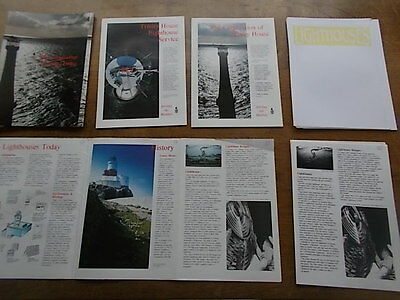 LIGHTHOUSE EPHEMERA A4 size 1990s from The Corporation of Trinity House VGC