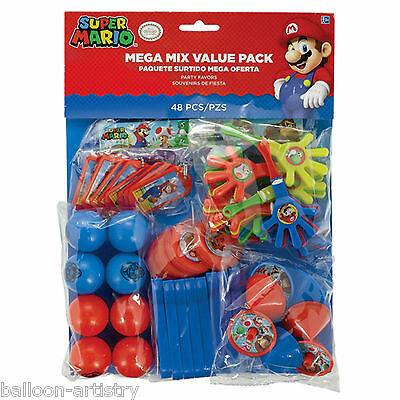 48 Piece Super Mario Bros & Friends Children's Party Loot Toy Gift Favours Pack
