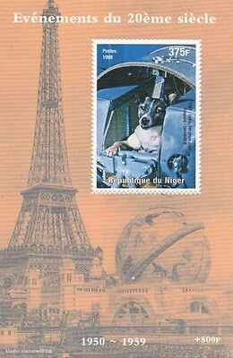 Laika First Soviet Dog In Space Sputnik 2 Republique Du Niger Mnh Stamp Sheetlet