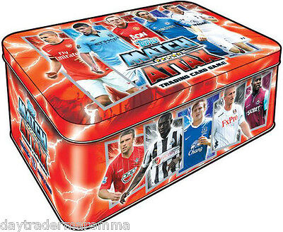 2012/2013 Match Attax EMPTY Tin Great as a pencil case etc