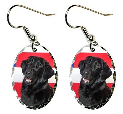 Flat Coated Retriever Earrings