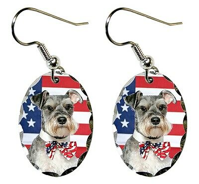 Miniature Schnauzer Earrings