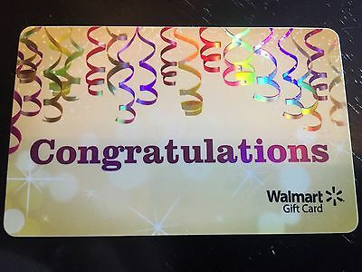 WalMart  Rechargeable Congratulations  Gift Card FD-49723 Collectible