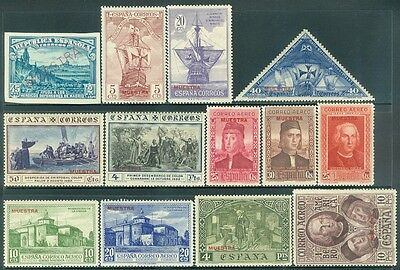 SPAIN  : Group of 13 different Specimen Overprints. Very Fine, Mint Never Hinged