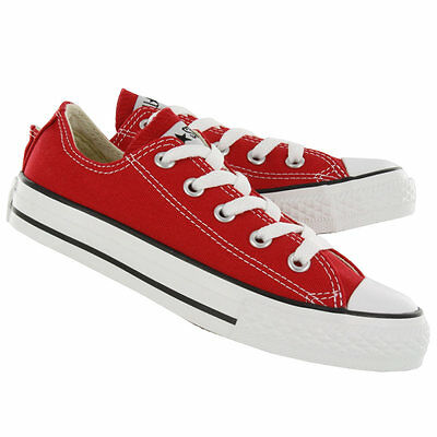 39ae4f005467 New! Kids Youth Chuck Taylor Converse J236 All Star Low Cut Shoes Red F3