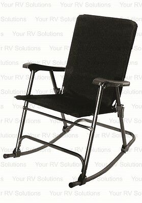 Prime Products Elite Series Folding Rocking Chair, Baja Black