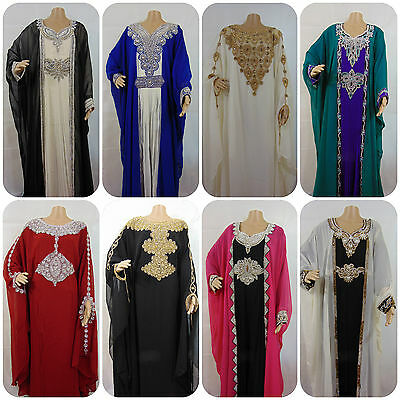 NEW Elegant georgette kaftan farasha abaya arabian style Party/Wedding/Eid wear