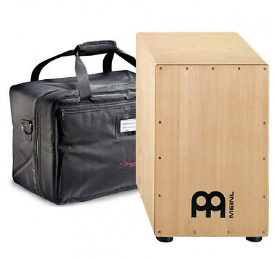 Meinl HCAJ1NT Headliner Natural Wood Cajon Drum With Deluxe Padded Bag