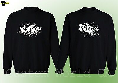 Couple Crewneck - NEW King & Queen - His and Hers Love Matching Sweatshirt