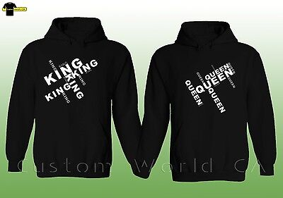 Couple Hoodie - NEW King & Queen His And Hers Couple Matching Sweatshirts Hooded