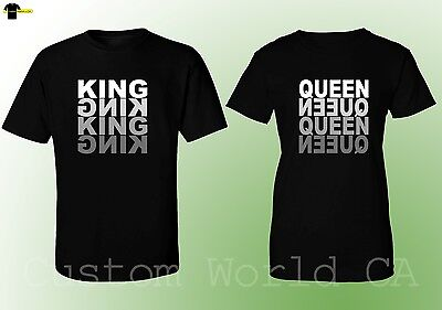 Couple Matching Love T-Shirts - NEW King & Queen His and Hers Love Matching Tees