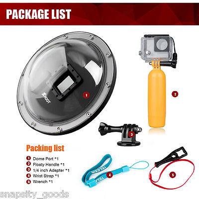 Shoot 6'' Dome Port Underwater Diving Camera Cover Lens for Gopro Hero 3+ 4