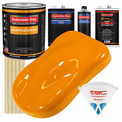 Speed Yellow Gallon URETHANE BASECOAT CLEARCOAT Car Auto Paint FAST Kit