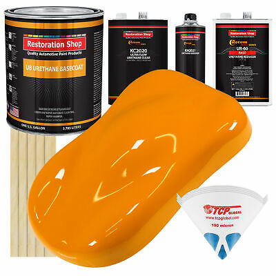 Speed Yellow Gallon Premium URETHANE BASECOAT CLEARCOAT Car Auto Paint FAST Kit