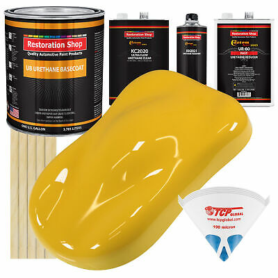 Canary Yellow Gallon Premium URETHANE BASECOAT CLEARCOAT Car Auto Paint FAST Kit