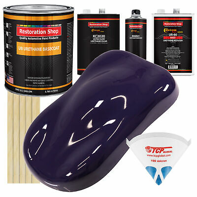 Majestic Purple Gallon URETHANE BASECOAT CLEARCOAT Auto Paint FAST Kit