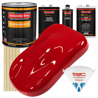 Torch Red Gallon Premium URETHANE BASECOAT CLEARCOAT Car Auto Paint FAST Kit