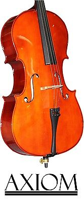 Axiom Beginners Cello Outfit - 4/4 Full Size Student Cello - Ideal First Cello