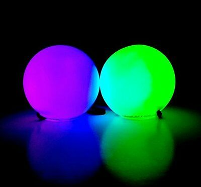 LED GLOW POI soft Pois bright ball Light toy full 7 colours Belly Dance Balls