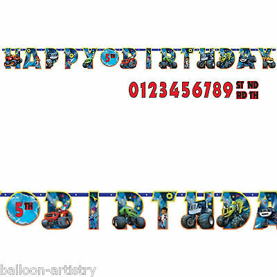 3.2m Blaze & The Monster Machines Children's Party Add An Age Letter Banner