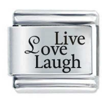 1x Live Love Laugh Daisy Charm 1x Genuine Nomination . Bracelet Link Bundle