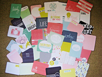 """'september Skies' Project Life Cards By Becky Higgins - 3"""" X 4""""-46 Cards"""