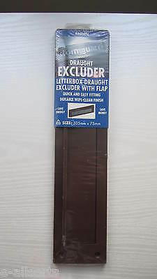 Stormguard Draught Excluder PVC Letterbox Draught Excluder With Flap Brown